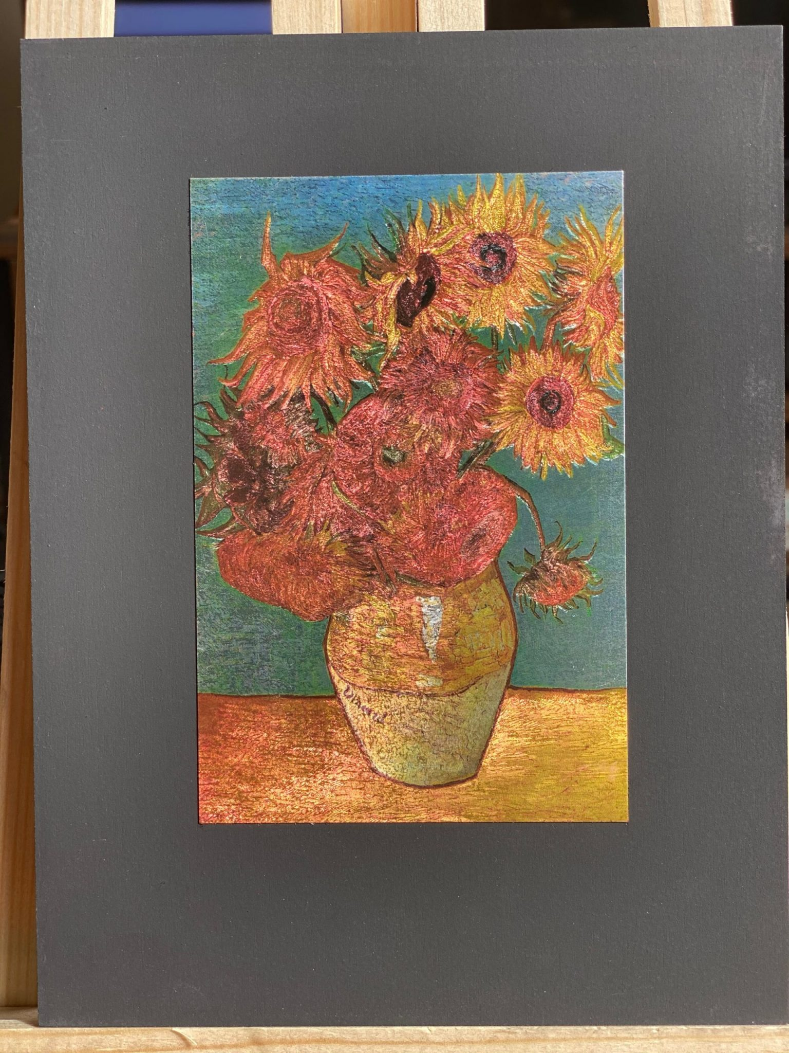 Sunflowers Van Gogh Blue Small Size