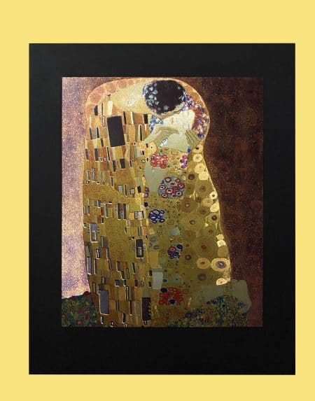 klimt-kiss-gravure-metal-art-3d-light-effect
