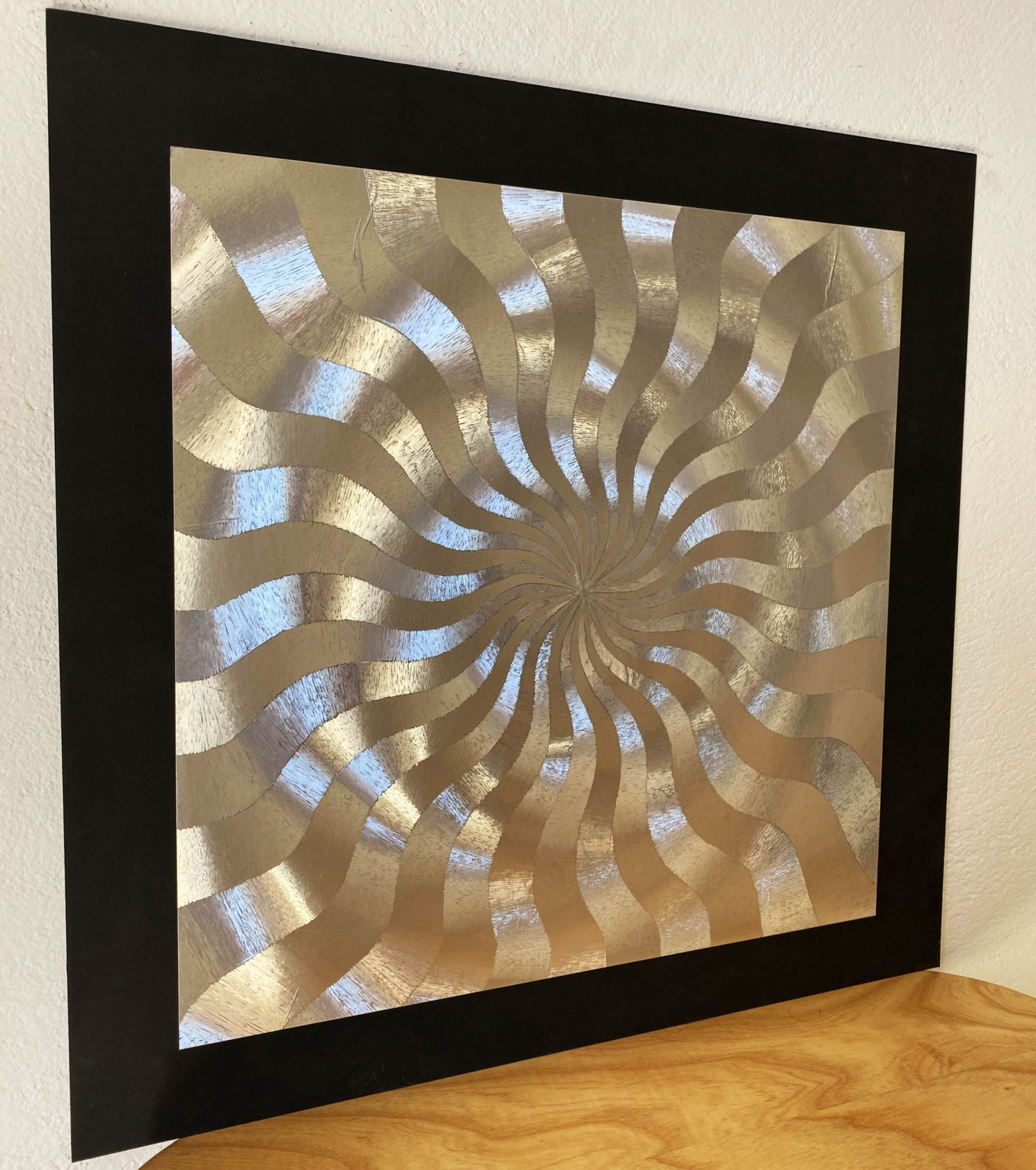 abstract-center-lines-silver-40-x-40-gravure-foil-art-etching-left