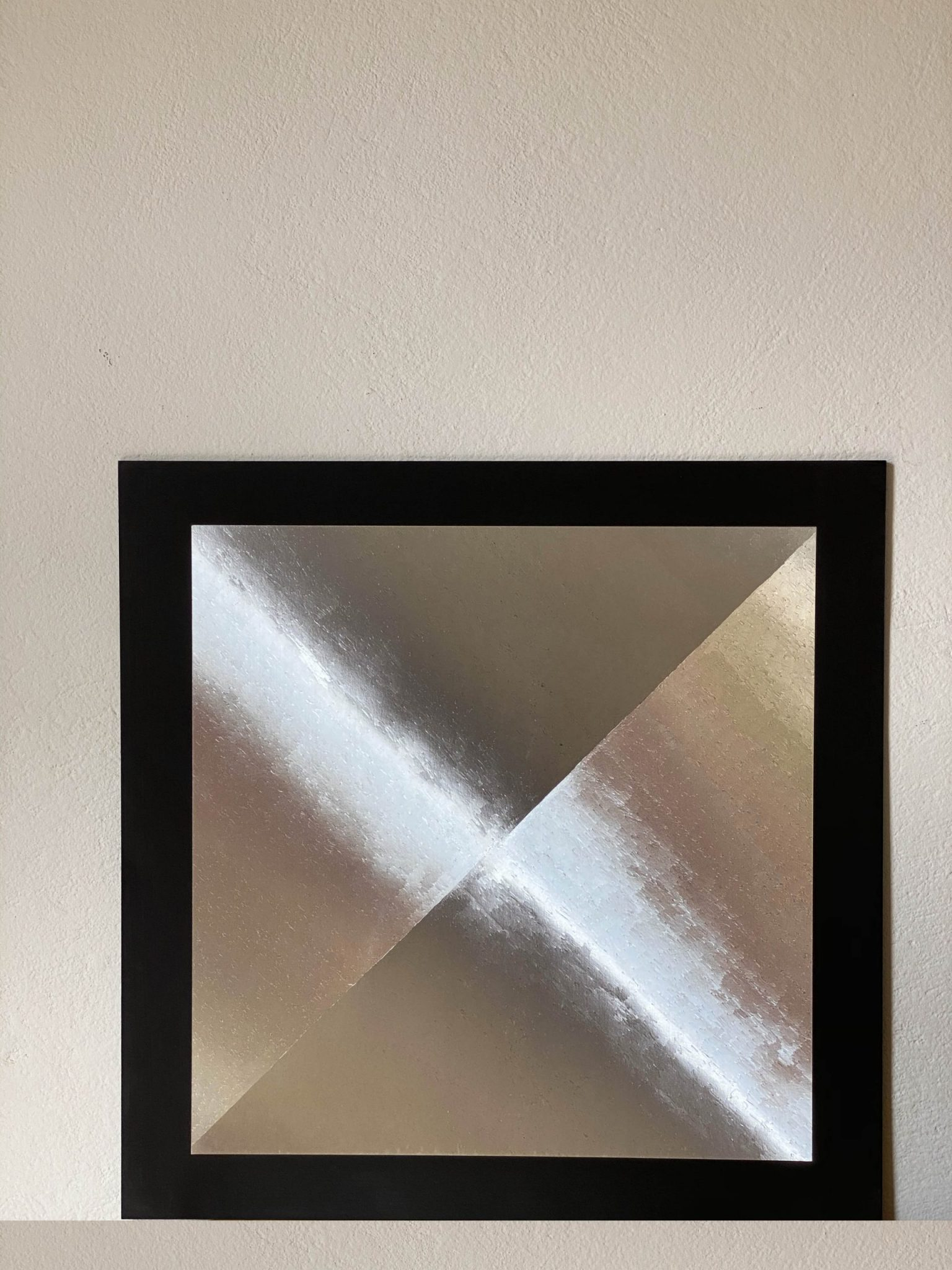 abstract-center-triangles-silver-40-x-40-gravure-foil-art-etching