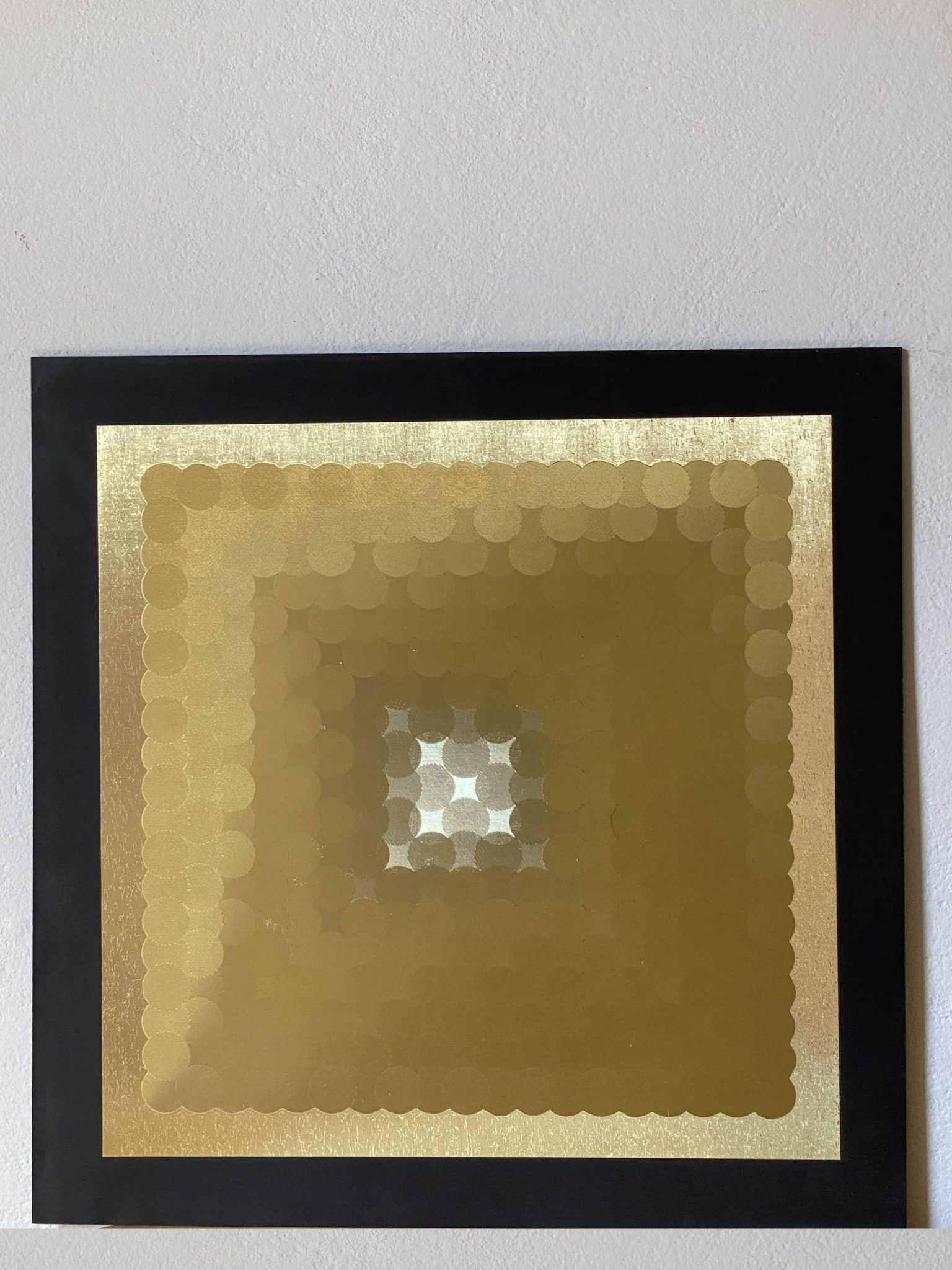 abstract-dots-gold-40-x-40-gravure-foil-art-etching