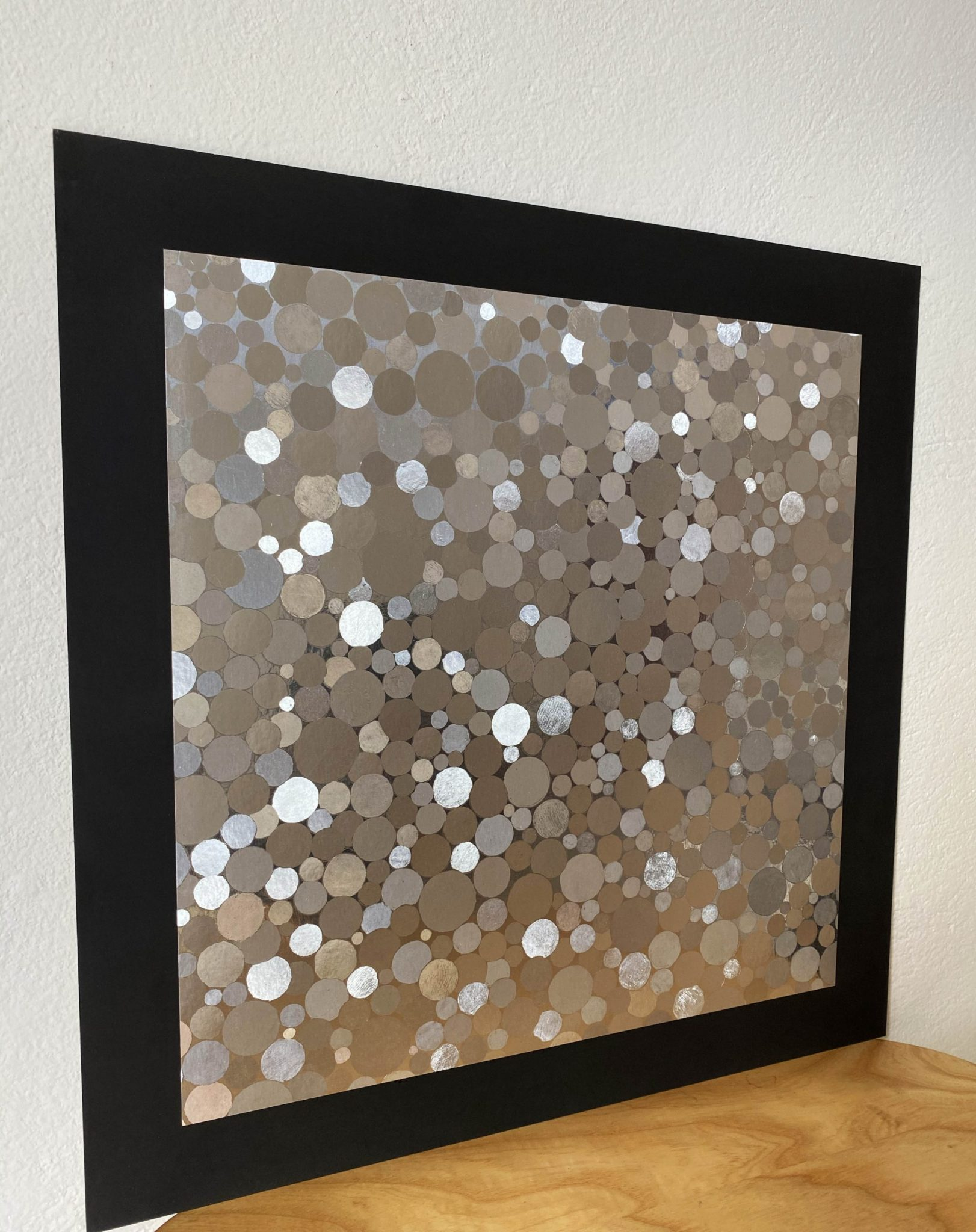 abstract-round-spots-silver-40-x-40-gravure-foil-art-etching